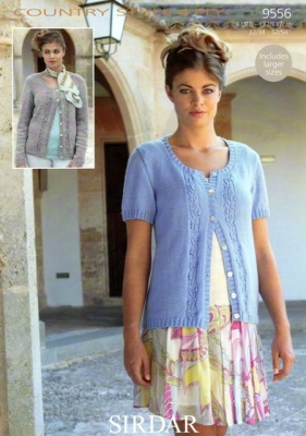2b7911422 Cottontail Crafts - Knitting Pattern 9556 - Ladies Cardigan in ...