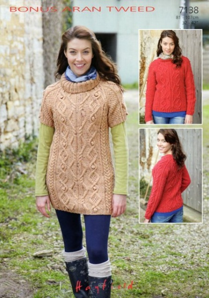 Cottontail Crafts Knitting Pattern 7138 Sweater Tunic In