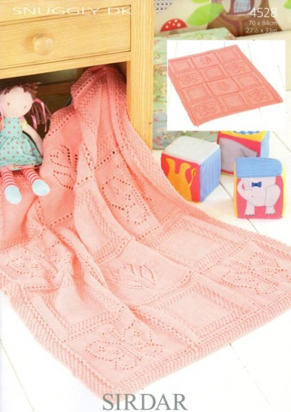Cottontail Crafts Knitting Pattern 4528 Blanket In Sirdar Snuggly Dk