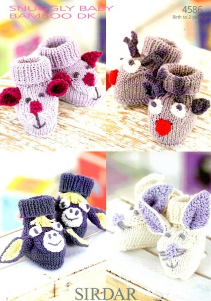3aad1cd28 Cottontail Crafts - Knitting Pattern 4586 - Bootees for Birth to 2 years