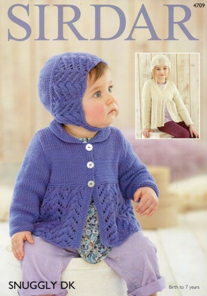 616beef2f Cottontail Crafts - Sirdar Knitting Pattern 4709 - Cardigans   Hats ...