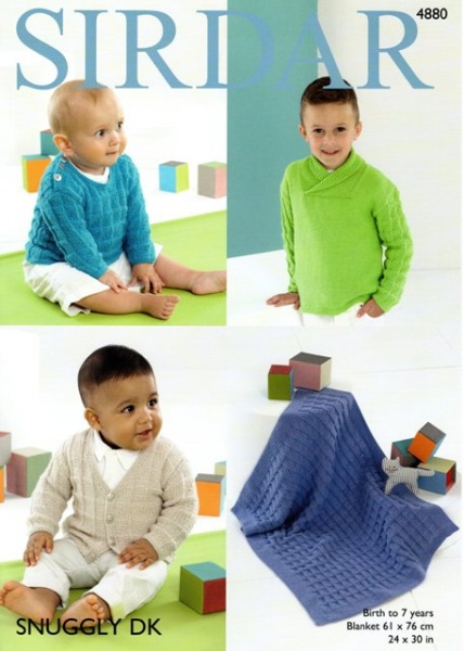 85e6ded99 Cottontail Crafts - Knitting Pattern 4880 - Boy s Sweaters