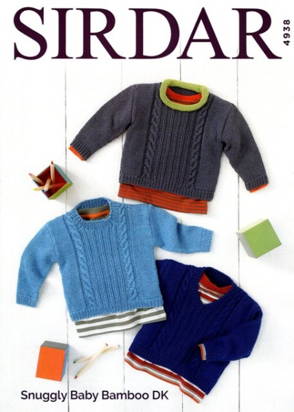 8a2d17c4f Cottontail Crafts - Sirdar Knitting Pattern 4938 - Sweaters in ...