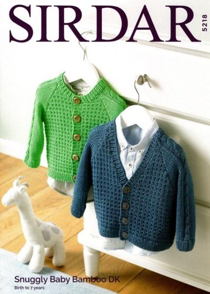 e294c149e Cottontail Crafts - Sirdar Knitting Pattern 5218 - Boy s Cardigans ...