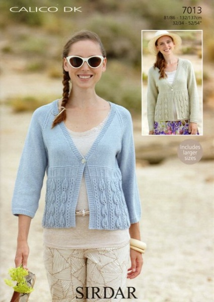 de9f0584e Cottontail Crafts - Knitting Pattern 7013 - Cardigans in Sirdar ...