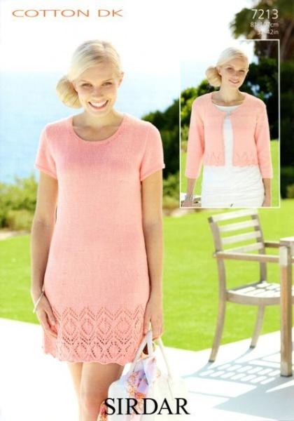 88fb4d52b Cottontail Crafts - Knitting Pattern 7213 - Dress   Jacket in Sirdar ...