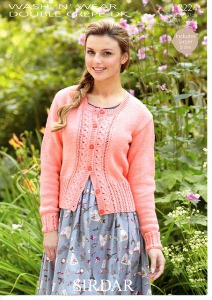 08dbb241990 Cottontail Crafts - Cardigan Knitting Pattern - Sirdar 7224