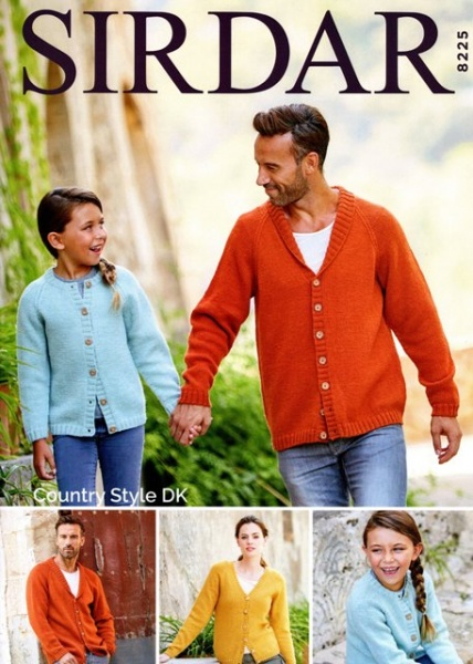 692d4c4e5 Cottontail Crafts - Knitting Pattern 8225 - Cardigans in Sirdar ...