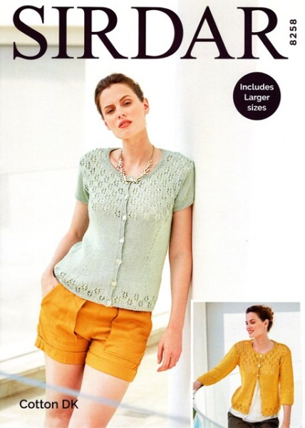f2bb63736 Cottontail Crafts - Sirdar Knitting Pattern 8258 - Cardigans in DK ...