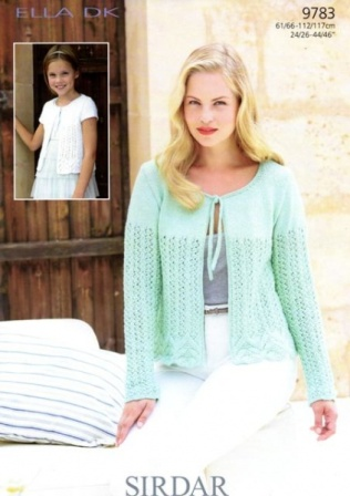 b9fb1230d Cottontail Crafts - Knitting Pattern 9783 - Cardigans in Sirdar Ella ...