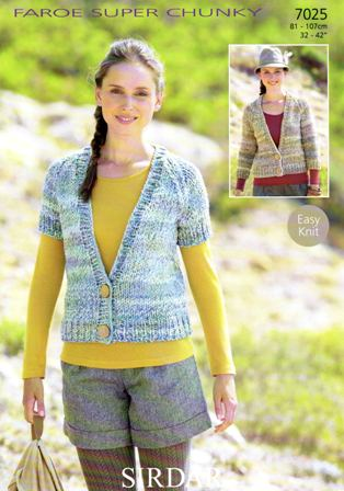 29e12ad1c Cottontail Crafts - Knitting Pattern 7025 - Cardigans in Sirdar ...