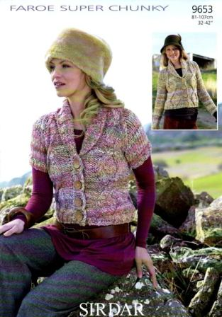 c2c9e074c Cottontail Crafts - Knitting Pattern 9653 - Cardigan in Sirdar Faroe ...