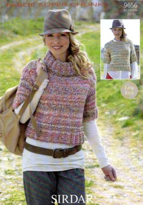 Cottontail Crafts Knitting Pattern 9656 Sweaters In Sirdar Faroe