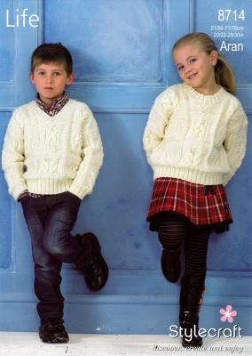 Cottontail Crafts Stylecraft Knitting Pattern 8714 Life Aran