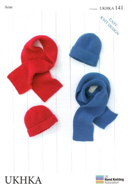 4aef22c8e Cottontail Crafts - Knitting Pattern UKHKA 141 - Hats   Scarves in ...
