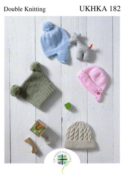 4a147b27453 Cottontail Crafts - Children s Hats - Knitting Pattern - UKHKA 182