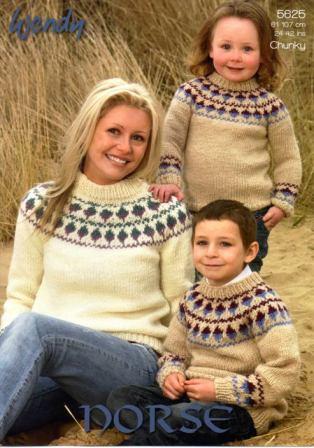 cfc00dae4178 Cottontail Crafts - Knitting Pattern 5625 - Fairisle Sweaters ...