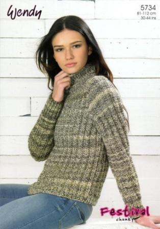 b4440c542 Cottontail Crafts - Knitting Pattern 5734 - Mock Fishermans Rib ...