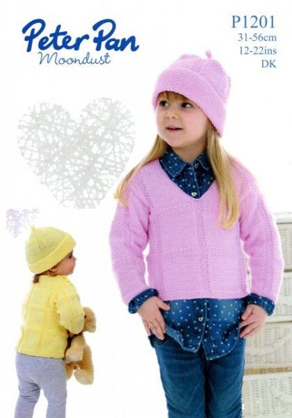 2a3df0c4d Cottontail Crafts - Knitting Pattern - Peter Pan P1201 - Sweaters ...