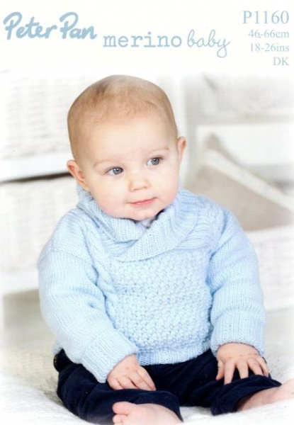Well-liked Cottontail Crafts - Knitting Pattern P1160 - Sweater with Shawl  LT03