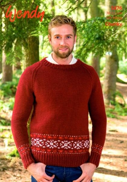 Cottontail Crafts Wendy Knitting Pattern 5876 Raglan Sweater