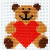 Teddy Bear - Counted Cross Stitch Kit