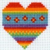 Heart - Counted Cross Stitch Kit