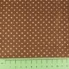 Fabric by the Metre - 3mm Spots - Brown
