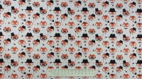 Fabric by the Metre - Foxes - Ivory