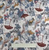 Fabric by the Metre - 791 Animals - Ivory