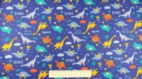Fabric by the Metre - Dinosaurs - Royal