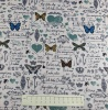 Fabric by the Metre - 824 Butterflies - Blue