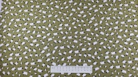 Fabric by the Metre - 454 Sheep - Green