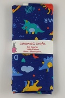 Fat Quarter - CP796 Dinosaurs - Royal