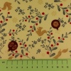 Fabric by the metre - 261 Christmas - Mistletoe, Baubles & Squirrels - Ivory