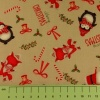 Fabric by the metre - 262 Christmas - Festive Characters - Beige