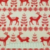 Fabric by the metre - 276 Christmas - Reindeer - Red
