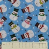 Fabric by the Metre - 874 Snowmen - Blue