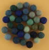 Handmade Felt Accessories - 10mm Balls - Blues