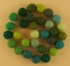 Handmade Felt Accessories - 10mm Balls - Greens