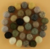 Handmade Felt Accessories - 10mm Balls - Natural