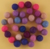 Handmade Felt Accessories - 10mm Balls - Pinks & Purples
