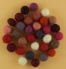 Handmade Felt Accessories - 10mm Balls - Reds