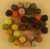 Handmade Felt Accessories - 10mm Balls - Yellows & Browns