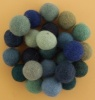 Handmade Felt Accessories - 15mm Balls - Blues