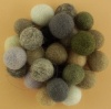 Handmade Felt Accessories - 15mm Balls - Natural