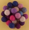 Handmade Felt Accessories - 15mm Balls - Pinks & Purples