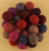 Handmade Felt Accessories - 15mm Balls - Reds
