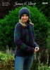 Knitting Pattern - James C Brett JB548 - Mega Multi Super Chunky - Sweater, Hat & Scarf