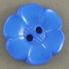 Flower Button - Blue - 22mm